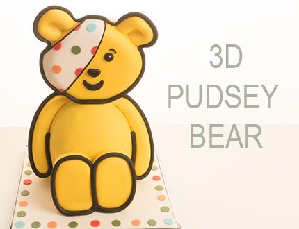 3D Pudsey Bear Cake