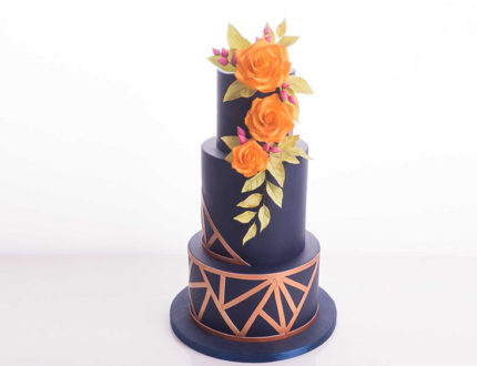 geometric wedding cake tutorial