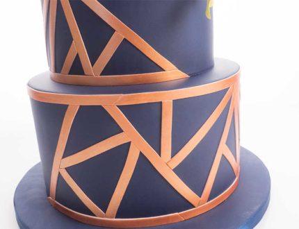 natalie porter - geometric cake tutorial