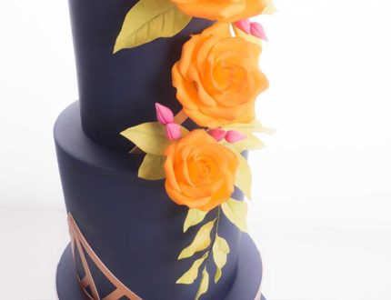 geometric wedding cake tutorial - CakeFlix