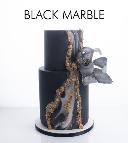 Black Marble Wedding Cake