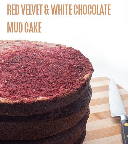 Red Velvet & White Chocolate Mud Cake
