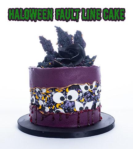 Halloween Fault Line Cake – Bite Sized