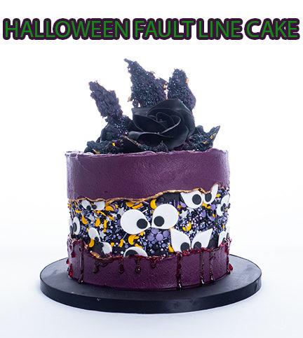 Halloween Fault Line Cake
