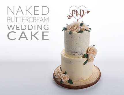 Easy Chocolate Naked Buttercream Wedding