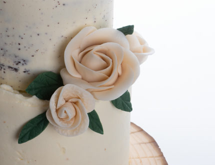 naked buttercream wedding cake