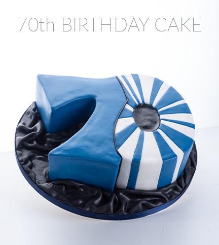 70th Birthday Cake – Bite sized