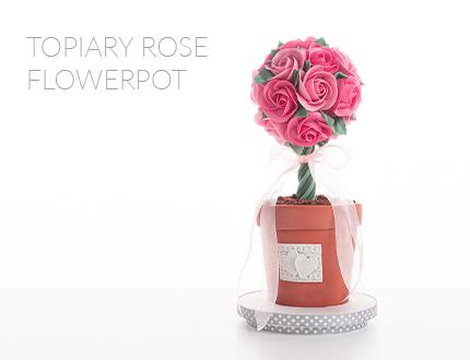 Topiary Rose Flowerpot