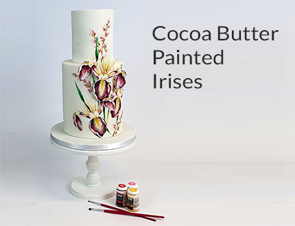 Cocoa Butter Painted Irises