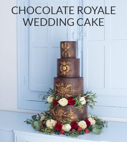 Chocolate Royale Wedding Cake – Bite Sized