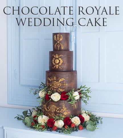 Chocolate Royale Wedding Cake