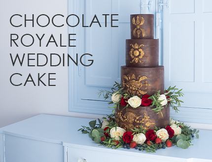 Chocolate Royale Wedding Cake