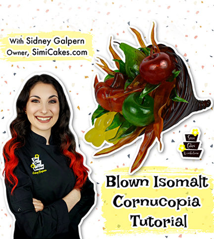 Blown Isomalt Cornucopia – Bite Sized