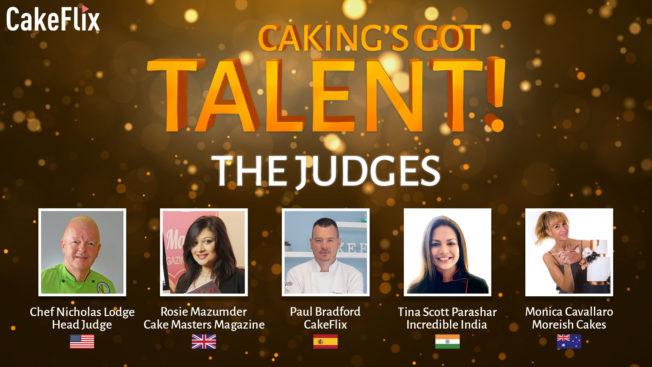 Caking's got talent judges