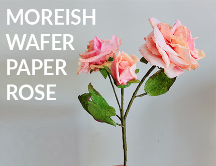 Moreish Wafer Paper Rose Sugar Flower