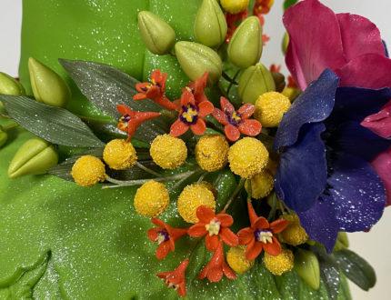 Flower nymph dress flowers close up