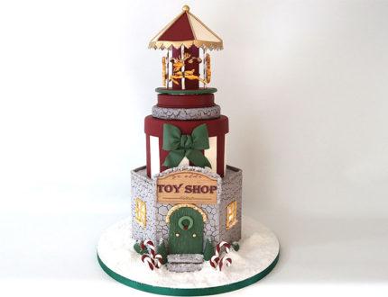 Christmas carousel full cake