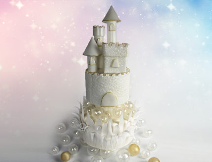 isomalt castle full cake shot