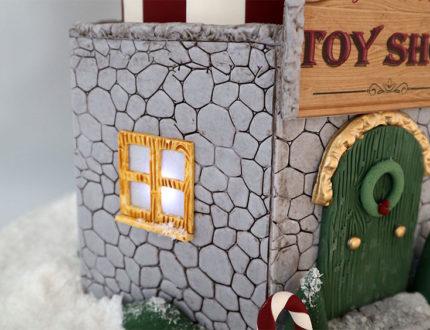 Christmas carousel window and wall