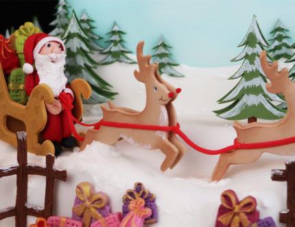 santas sleigh ride close up 1