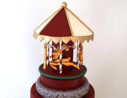 Christmas carousel top tier