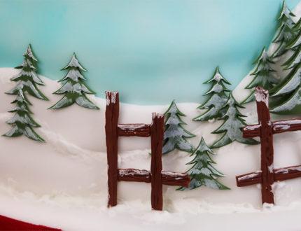 santas sleigh ride background