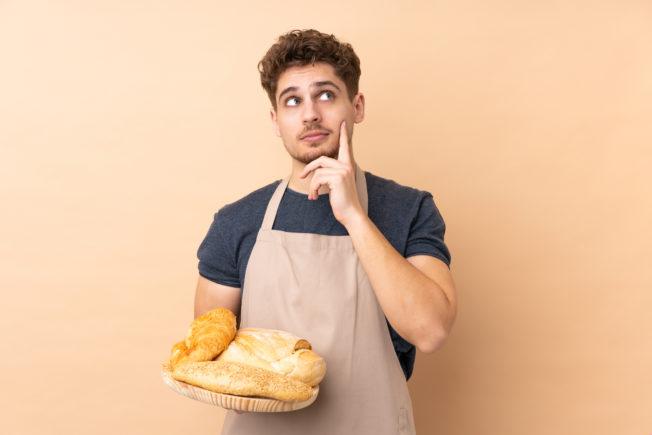 Thinking baker