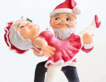 cha cha cha Christmas figures dancing