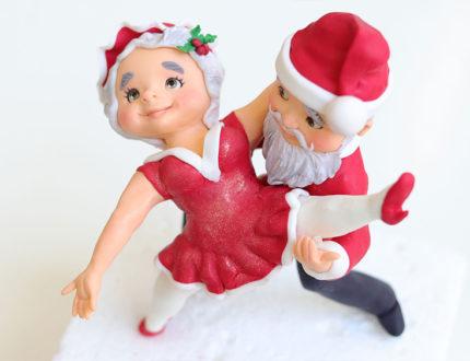 cha cha cha Christmas figures top shot
