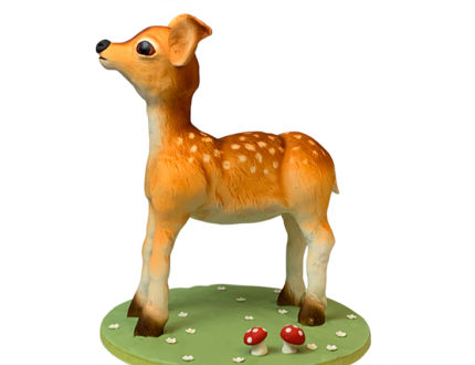 spring deer side view