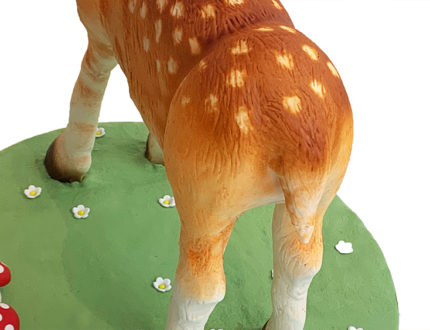 Spring deer back view