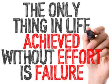 Lack of Effort