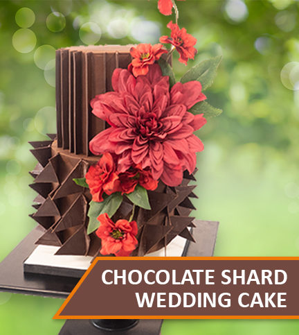 Chocolate Shard Wedding Cake – Bite Sized