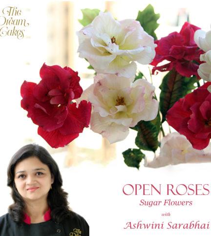 Open Roses Sugar Flower
