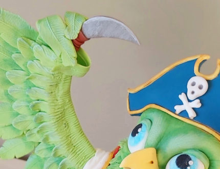 pirate parrot close up hook