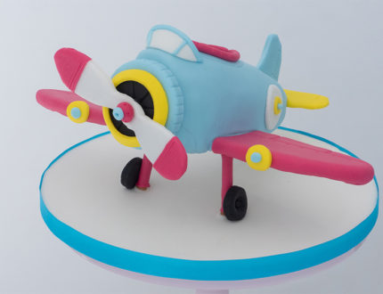 Cartoon aeroplane full shot