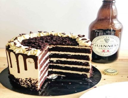 Malted chocolate 7 Stout layer cake