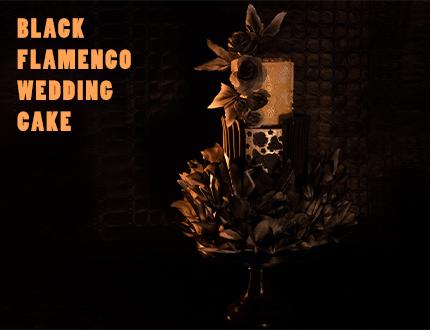Black Flamenco Wedding Cake