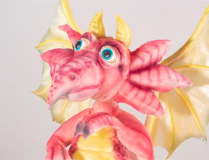 Standing dragon head close up