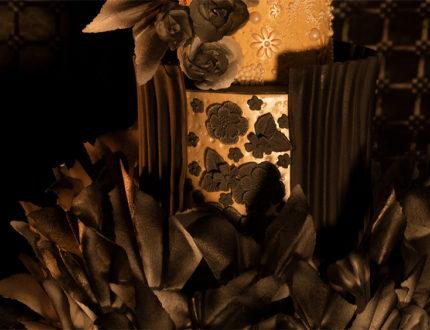 black flamenco wedding cake middle tier