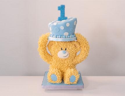 1st birthday cake full shot