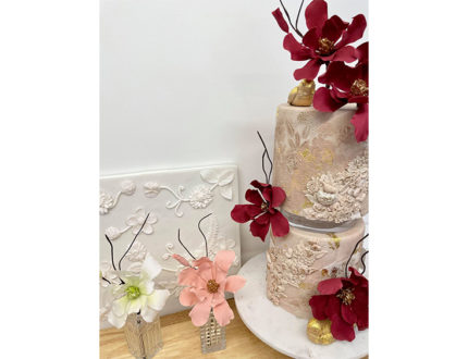texturing and flowers side
