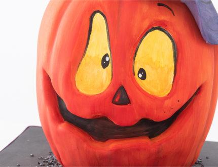 Spooky Pumpkin face close up