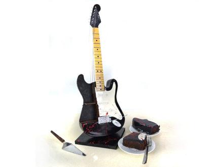 Halloween Electric Guitar Cut Cake