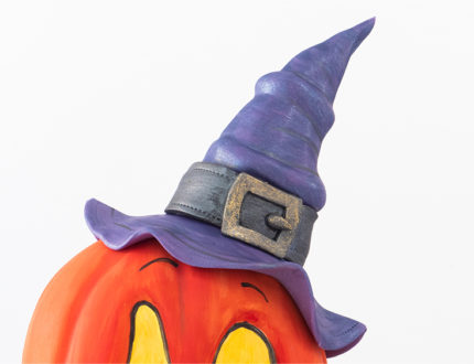 Spooky Pumpkin witches hat